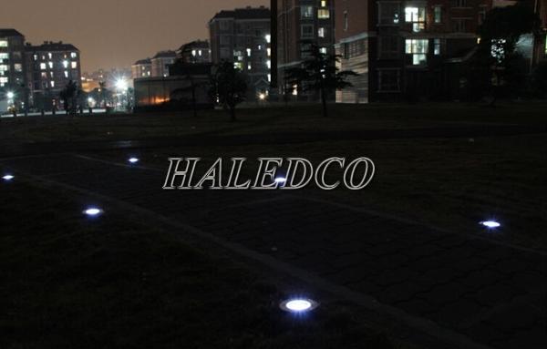 Ứng dụng chiếu sáng đèn led âm đất HLUG1-24w