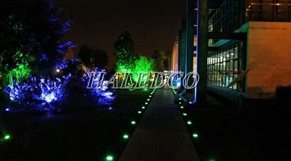 Ứng dụng chiếu sáng của đèn led âm đất HLUG1-5w RGB