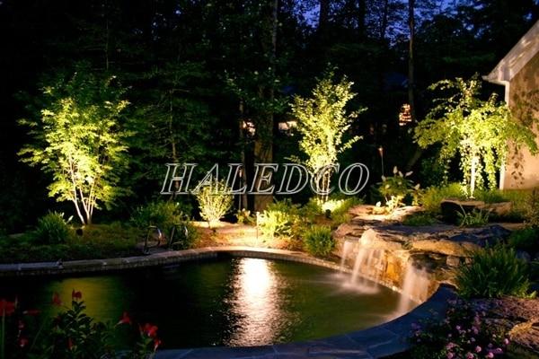 Ứng dụng đèn led đèn led chiếu cây HLOG1-12w