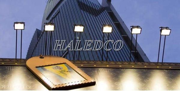 Ứng dụng chiếu sáng tòa nhà của đèn pha led HLFL5-50w
