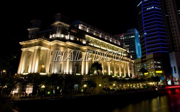 Ứng dụng chiếu sáng tòa nhà của đèn pha led HLFL6-50w