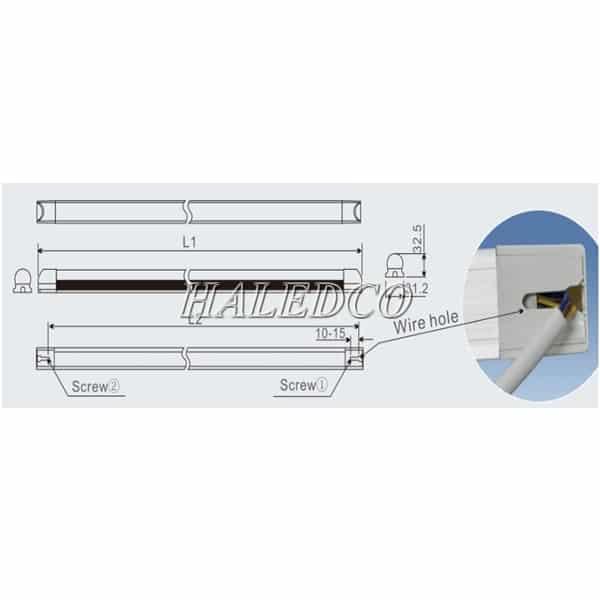 Lắp đặt đèn led phòng sạch HLLCR9-18w