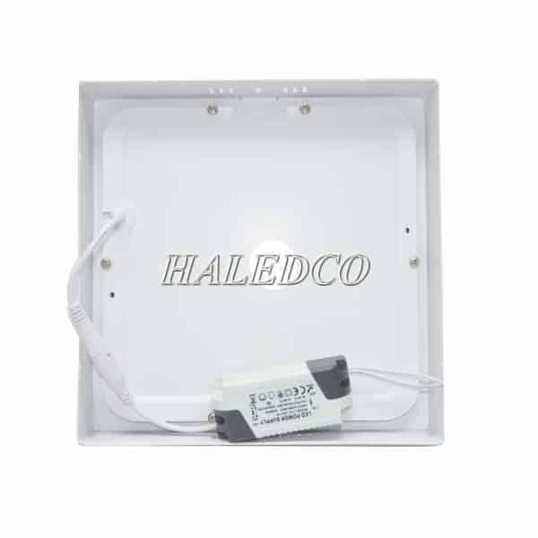 Mặt sau và nguồn đèn led ốp trần vuông HLDLV5-24w