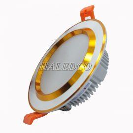 Đèn led âm trần HLDLT5-9w tán fin vàng