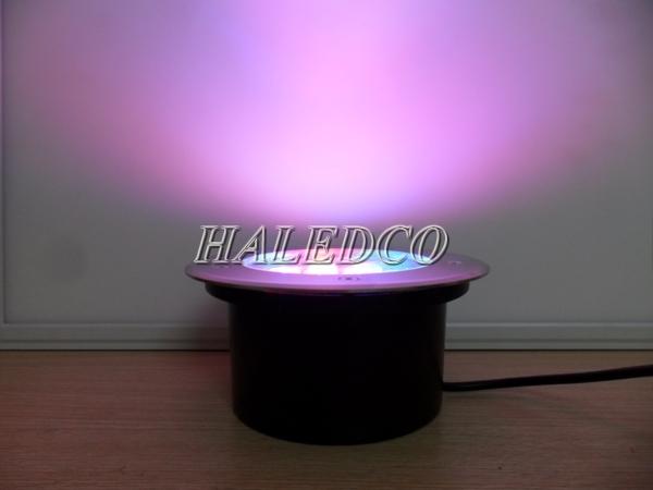 Ánh sáng đổi màu đèn led âm đất HLUG1-24w RGB