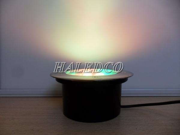 Màu sắc ánh sáng của đèn led âm đất HLUG1-5w RGB