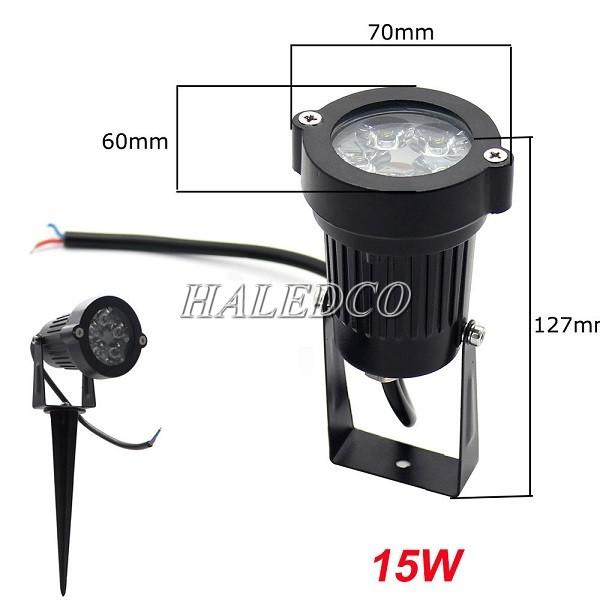 Thân đèn led chiếu cây HLOG1-15w
