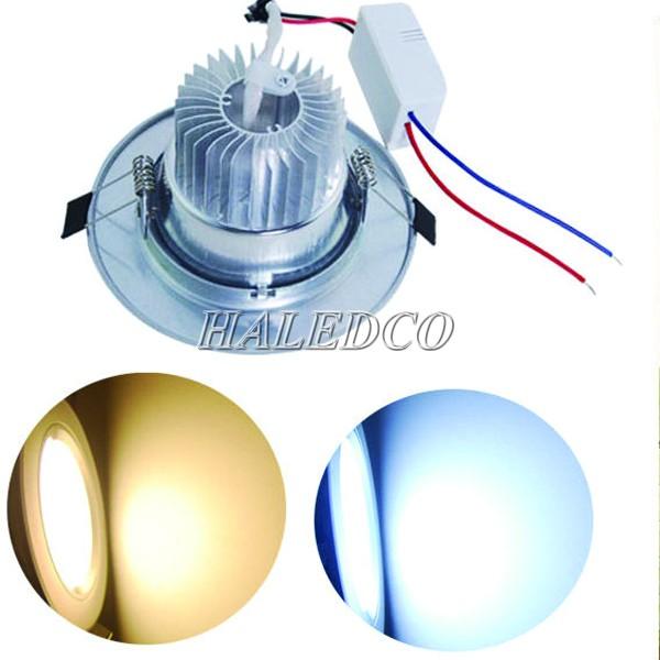 Màu ánh sáng đèn led âm trần HLDLT1-9w chíp mắt