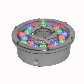 Đèn led âm nước HLUW2-18 RGB dạng bánh xe đổi màu