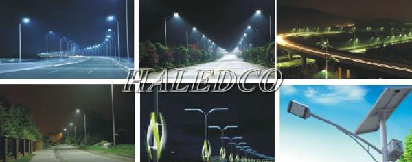Ứng dụng của đèn đường led HLS12-60 chip SMD chiếu sáng đường đi khu đô thị