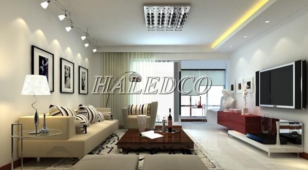 Ứng dụng đèn led âm trần HLDLV1-9w vuông đơn