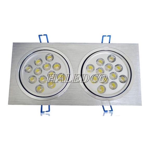 Đèn led âm trần HLDLV2-24w vuông đôi