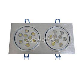 Đèn led âm trần HLDLV2-18w vuông đôi