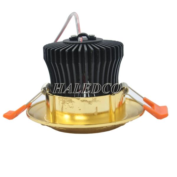 Lắp đặt đèn led âm trần HLMV02-7w hoa hồng