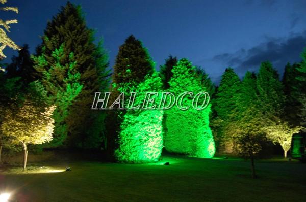 Ứng dụng đèn led âm đất HLUG1-36w RGB