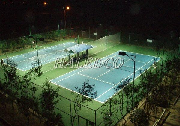 Tư vấn chiếu sáng hệ thống đèn led chiếu sáng sân tennis thủy điện Buôn Kuốp