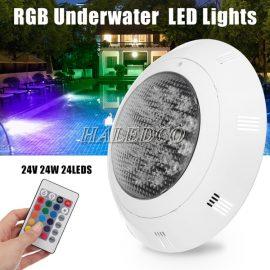 Đèn led hồ bơi HLUWP4-24 RGB vỏ nhựa ABS đổi màu