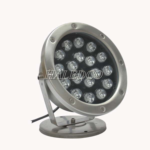Bộ nguồn được tích hợp trong thân đèn led dưới nước 18w dạng đế HLUW1-18w