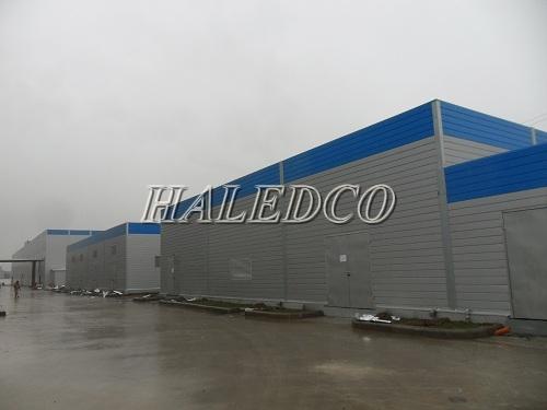Lắp đặt hệ thống chiếu sáng xung quanh nhà máy Woojeon & Handan Vina