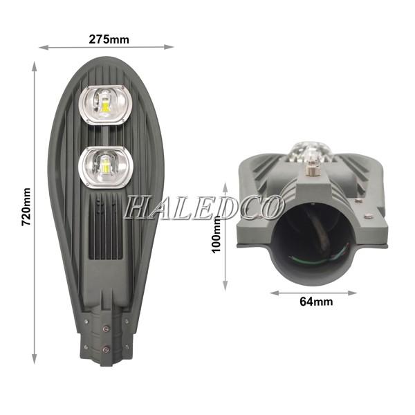 Kích thước đèn đường LED HLS7-100