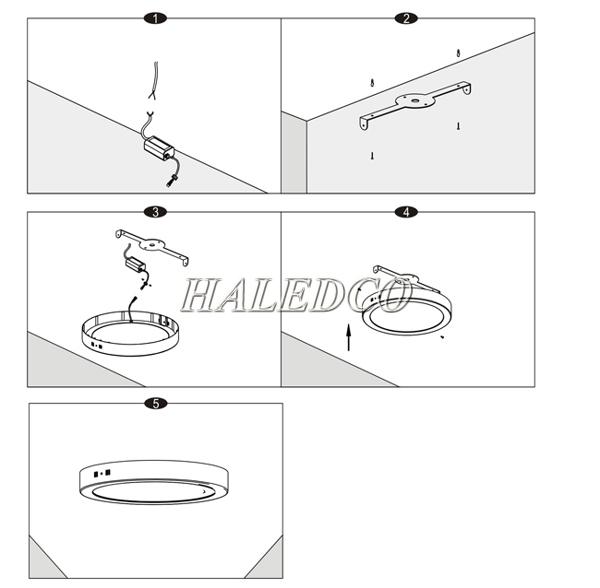 Hướng dẫn lắp đặt đèn led ốp trần