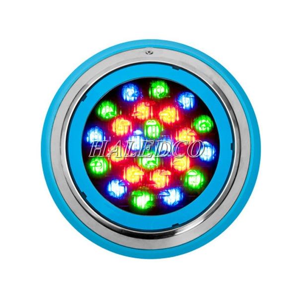 Mặt chíp đèn led hồ bơi HLUWP3-24 RGB vỏ innox đổi màu
