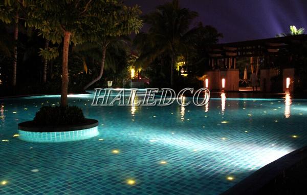 Ứng dụng chiếu sáng của đèn led hồ bơi HLUWP3-24 RGB