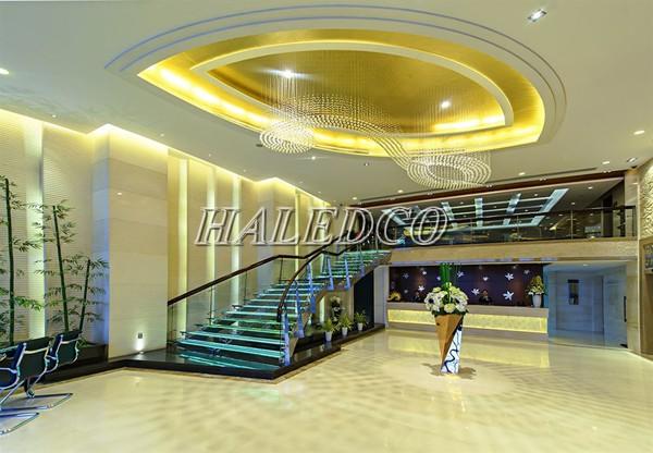 Ứng dụng đèn led âm trần HL74007-7w vương miện