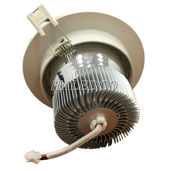 Tản nhiệt đèn led âm trần HLDLT3-7w RGB