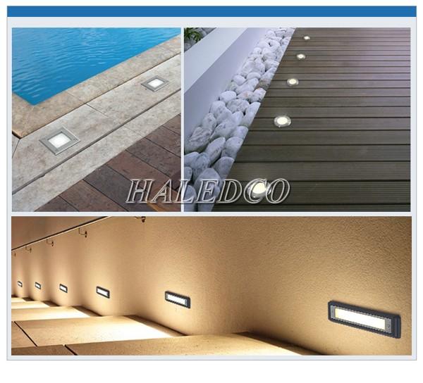 Ứng dụng chiếu sáng của đèn led âm đất HLUG2-9w