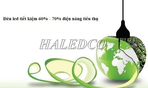 Đèn led có hiệu suất phát quang cao tiết kiệm đến 70% điện năng tiêu thụ