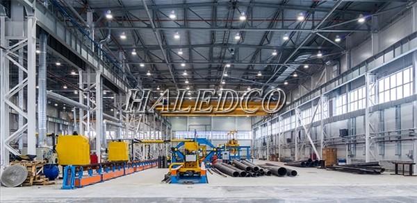 Tính toán chiếu sáng nhà xưởng dựa vào công suất chiều cao treo đèn