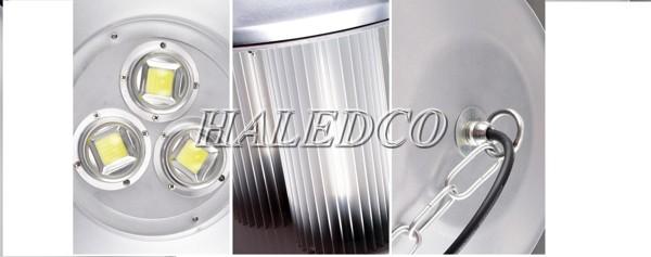 Chất liệu cấu tạo từng bộ phận của đèn led nhà xưởng HLHB11-150w