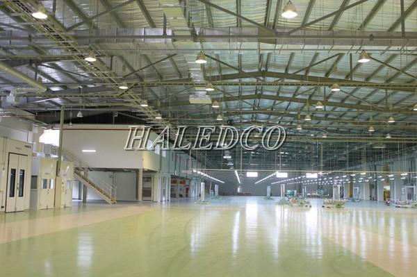 Ứng dụng chiếu sáng của đèn led nhà xưởng HLHB5-150w