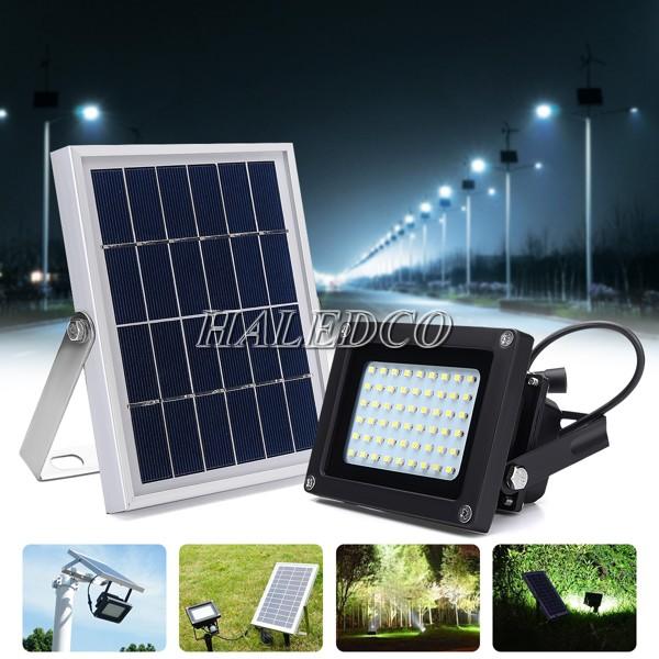 Đèn pha led năng lượng mặt trời 60w tấm pin rời