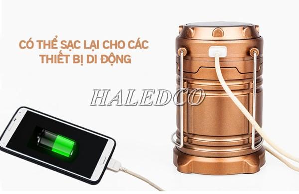 Đèn có thể sử dụng để sạc điện thoại khi cần thiết