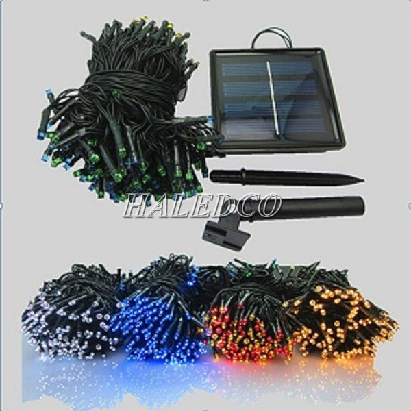 Bộ sản phẩm đèn led dây sử dụng năng lượng mặt trời với nhiều màu sắc