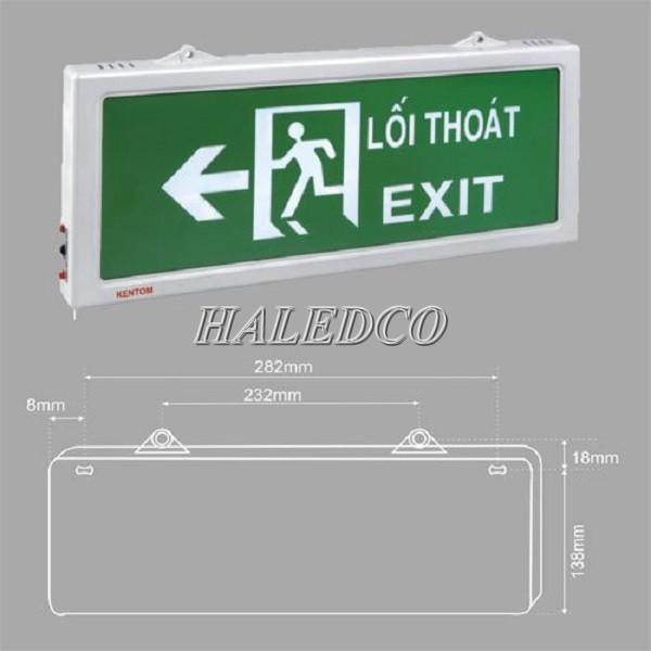 Lắp đèn chiếu sáng sự cố exit