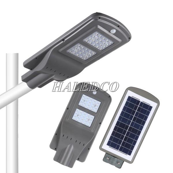 Tấm pin mặt trời được tích hợp phía sau thân đèn