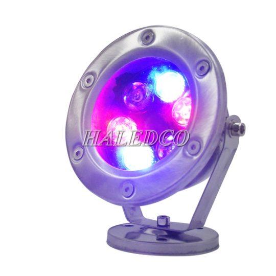 Đèn led âm nước đổi màu 6w dạng đế model HLUW2-6w RGB