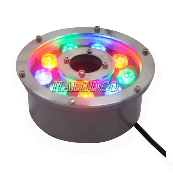 Đèn led dưới nước 9w đổi màu dạng bánh xe HLUW2-9w RGB ánh sáng đổi màu
