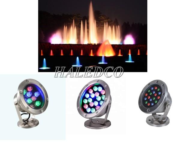 Đèn LED âm nước có đế đổi màu 6w, 9w, 12w.. RBG