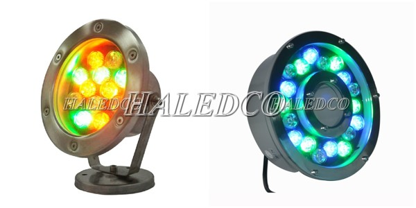 Kiểu dáng đèn led âm nước đổi màu