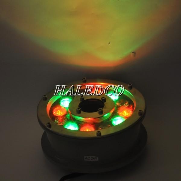 Đèn led âm nước hồ bơi 12w dạng bánh xe đổi màu