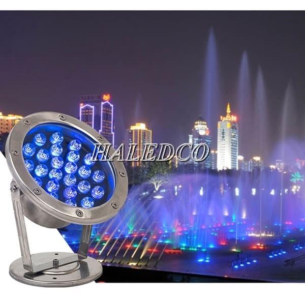Đèn led âm nước 24w chiếu sáng các công trình nước