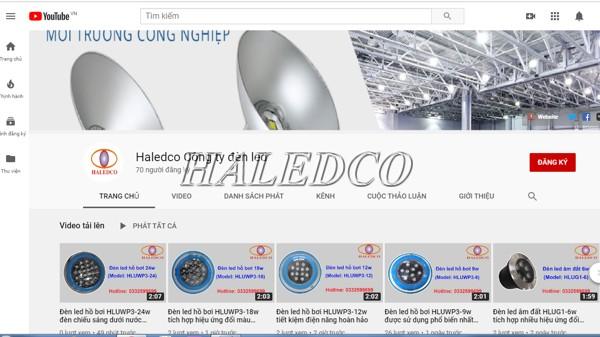 Youtobe bán đèn led dưới nước của Haledco