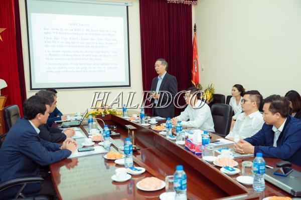 Ông Tạ Bá Hưng chủ nhiệm Hợp Phần 1A - BQL dự án FIRST
