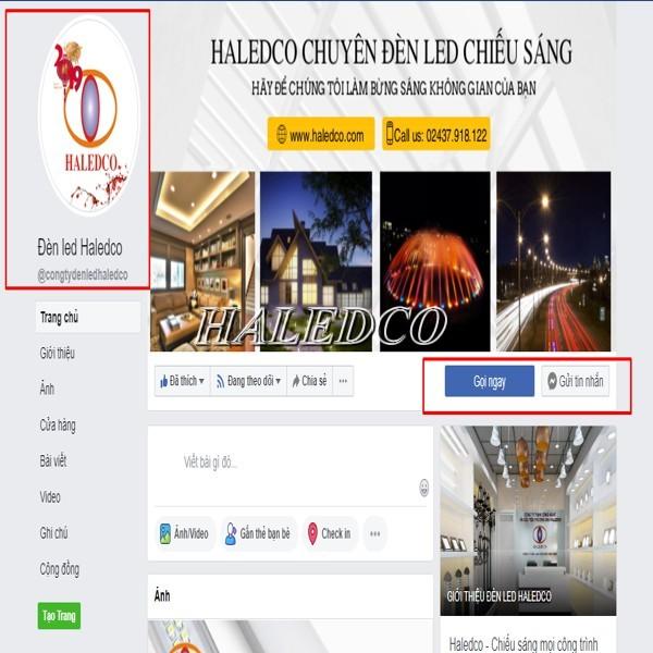 Hình ảnh kênh Facebook của Haledco