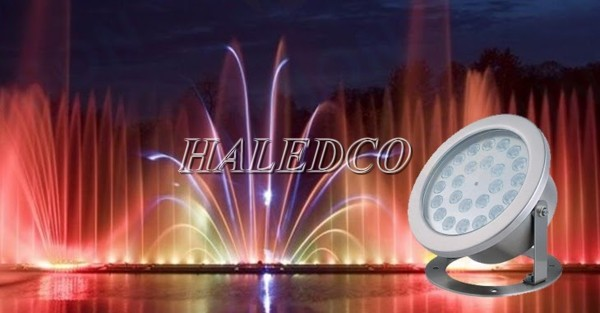 Công trình biểu diễn ánh sáng nước sử dụng đèn led dạng đế