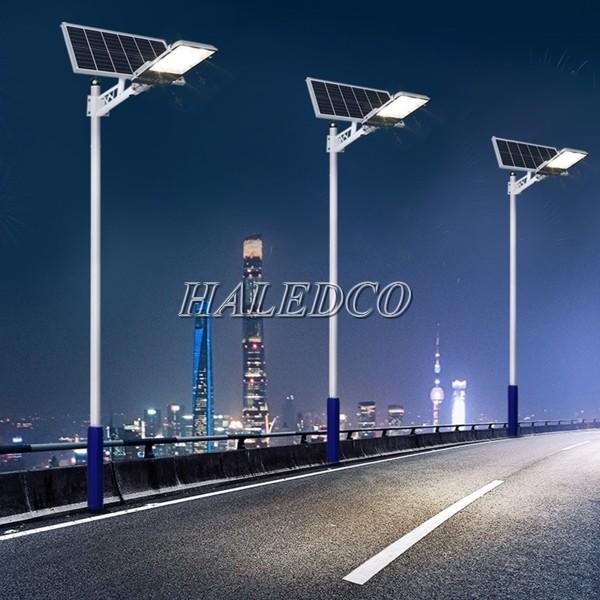 Đèn năng lượng mặt trời led 100w HLMTS1-100 chiếu sáng đường phố